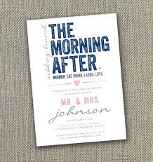morning after wedding brunch invitations post wedding breakfast invitations the morning after post wedding