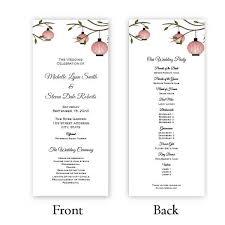 tea length wedding programs program tea length a j s prints