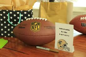 football baby shower awesome saints themed baby shower knn