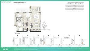Floor Plan Elements Golf Views By Emaar 2 Bedroom Apartment 2b Floor Plan