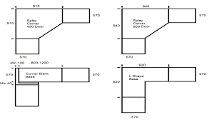 corner kitchen cabinet dimensions
