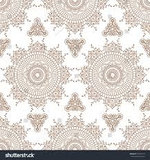seamless pattern brown mehndi floral henna stock vector 548792719