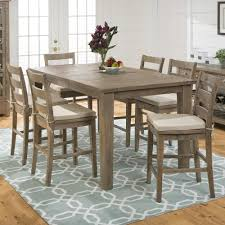 7 piece pub height dining sets bar height dining table set modern