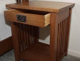 Mission Style Nightstand Krj Woodcraft