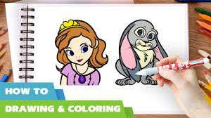 how to draw sofia the first coloring pages disney junior drawing