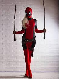 Halloween Costumes Lady Deadpool Costume Popular