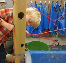 tall sand and water table sand and water tables tall cardboard tubes and ropes science