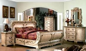 King Sleigh Bed Cannes Ornate Traditional King Sleigh Bed Ivory White Luxury 4pc