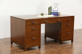 executive desk with file drawers stickley signed cherry 2014 library or executive desk 2 file