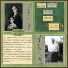 family history scrapbook layouts family history scrapbook layout