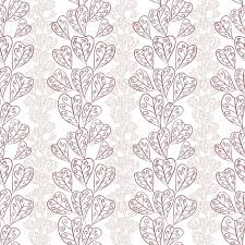 seamless fall leaves pattern floral wallpaper hand drawn stock