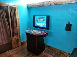 Turquoise Cabinet 4 Player Pedestal Arcade Cabinet For Mame 32 Steps With Pictures