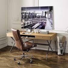 bureau maisons du monde bureau vintage guariche président en chêne massif bureau maisons