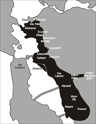 san francisco map east bay location