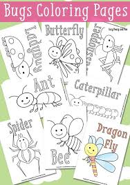 preschool coloring pages bugs little bugs coloring pages for kids easy peasy easy and insects