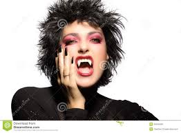 beauty gothic vampire makeup royalty free stock image