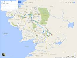 Google Maps Truck Routes by A Google Maps Style Mockup Of Middle Earth From Lord Of The Rings