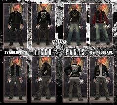 biker pants gta gaming archive
