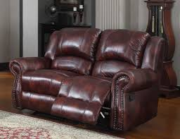 leather reclining loveseat with center console small reclining