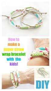 paper straw wrap bracelet u2013 crafts for kids