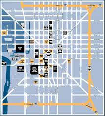 Downtown Chicago Map Downtown Indianapolis Map Map Of Downtown Indianapolis Indiana