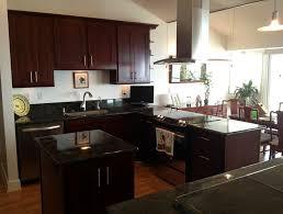 Cherry Kitchen Cabinets Kitchen White Cabinets Black Granite Home Design Ideas
