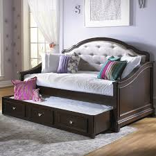 bedroom wrought iron daybeds with pop up trundle with colorful