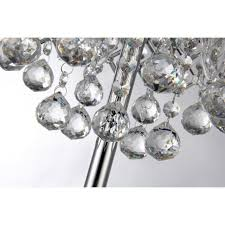 Crystal Chandelier Table Lamp Round Crystal Chandelier Bedroom Nightstand Table Lamp 3 Light Fixture