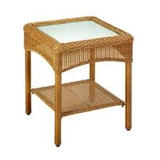 Patio Accent Table Martha Stewart Living Charlottetown All Weather Wicker