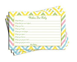 baby card baby shower chevron wishes for baby cards neutral