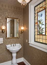 Modern Powder Room Mirrors Beautiful Powder Room With Pretty Standing Sink And Mirror Also