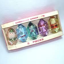 box brite 1960s large plastic ornaments sold