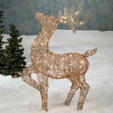 outdoor reindeer decorations lighted home design and