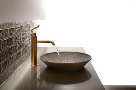 decor dark wooden countertop design ideas with kohler purist