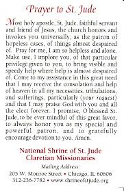 st jude prayer thank you st jude for your assistance in
