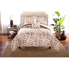 Mainstay Comforter Sets Mainstays Bed In A Bag Bedding Comforter Set Giraffe Walmart Com
