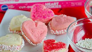 heart shaped cookies 3 ingredient heart shaped cookies recipe pillsbury
