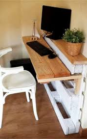 Diy Pallet Desk Pallet Projects 19 Clever Crafty And Easy Diy Pallet Ideas
