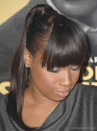 weave ponytails black hairstyles with bangs and ponytails best hairstyle 2017
