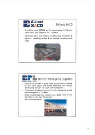Office Container Suppliers In South Africa The Bidvest Group Limited Bdvsf Investor Presentation