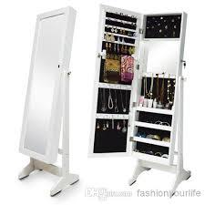 floor length mirror cabinet wood jewelry cabinet jewelry storage armoire display organizer box