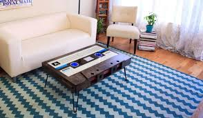 back of couch table cassette tape coffee table brings back memories of the 80s