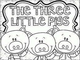 3 pigs coloring wolf blow pigs house