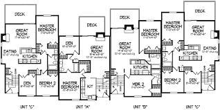 barcino modern fourplex plan 072d 0170 house plans and more