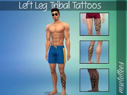 luvjake s left leg tribal tattoos for males