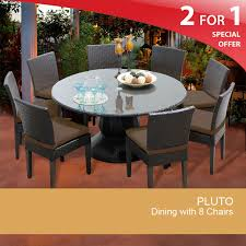 60 Patio Table 60 Inch Patio Table Outdoor Wicker Dining Table