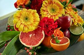 fruit and flowers fruit and flowers centerpiece