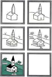 how to draw a church kids drawing lesson kids fun pinterest