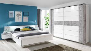 Schlafzimmer Set Mit Led Beleuchtung Set 1 Rondino In Betonoptik Und Weiß Mit Led