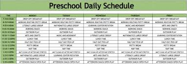 home daycare lesson plan template schedule sample pres elipalteco